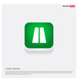 highway icons green web button vector image