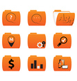 icons of folders with different signs vector image vector image