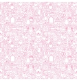 Line Wedding White Seamless Pattern vector image