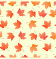 maple leaves seamless pattern for wallpaper vector image vector image