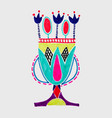 marker sketch drawing of egyptian decoration lotus vector image vector image