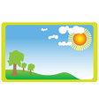 Meadow with sun vector image vector image