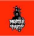 monster party design with creative design vector image