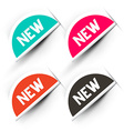 New Labels Set Tag Icons vector image