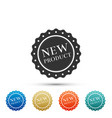 new product label badge seal sticker tag icon vector image vector image