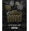 New Year 2016 berlin germany brandenburg gate gold vector image vector image