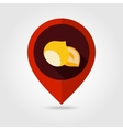 Nut flat mapping pin icon vector image vector image