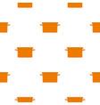 orange garbage tank pattern seamless vector image vector image
