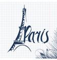 paris lettering vector image vector image