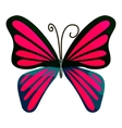 Pink butterfly icon cartoon style vector image vector image