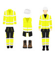 professional protective clothes boots and safety vector image vector image