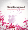 Retro Floral Border vector image