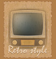 retro style poster old tv vector image vector image