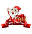 Santa label vector image vector image