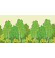 Seamless background forest vector image