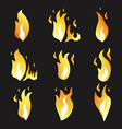 Set animation fire and variou