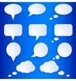 Set of Empty Speech Bubbles vector image