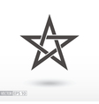 Sign Star 5-point Celtic star knot Pentagram vector image