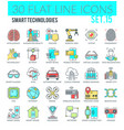 smart technologies icons vector image