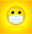 smiling in medical mask vector image
