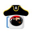 space pirate astronaut in helmet filibuster vector image vector image