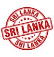 sri lanka red grunge round vintage rubber stamp vector image vector image