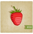 strawberries eco background vector image