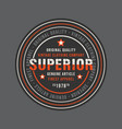 superior vintage round stamp for denim or t-shirt vector image vector image