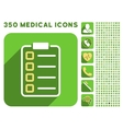 Test Form Icon and Medical Longshadow Icon Set vector image