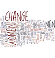 the change text background word cloud concept vector image vector image