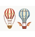 Transport air balloon with balance and lights vector image
