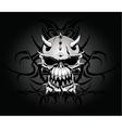 tribal skull design vector image vector image