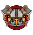 viking helmet logo vector image