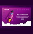 web banner design startup concept vector image