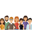 white background with half body group people of vector image vector image