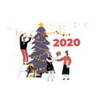 winter holidays theme for postcard poster vector image vector image