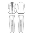 womens blazer and pants vector image