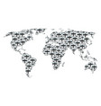 worldwide map pattern of aircraft items vector image