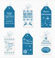 set of christmas label christmas tag new vector image