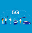 5g concept cartoon infographic a wireless vector image