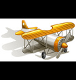 A vintage orange and gray coloured plane vector image vector image