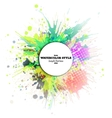 Abstract circle white banner with place for text vector image
