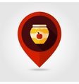 Apple jam jar flat mapping pin icon vector image vector image