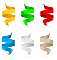 beautiful colored ribbons on white background vector image