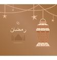 beige arabesque tracery Ramadan vector image