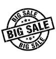 big sale round grunge black stamp vector image vector image