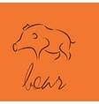 boar symbol icon vector image vector image