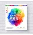 Business Web Template Emphasizing Annual Reports vector image vector image