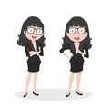businesswoman doing different actions vector image