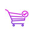 buy cart check shop store icon vector image